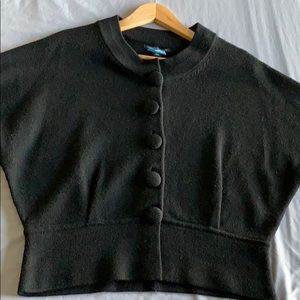 Banana Republic Black Short Sleeve Button Sweater